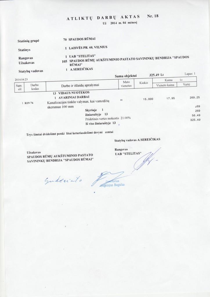 UAB Stelitas darbų aktas